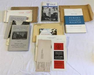 1959-1960 Harvard, Stanford, Pomona & Yale Student Prospect Information https://ctbids.com/#!/description/share/209655