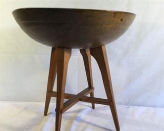 Antique Wood Dough Bowl on Legs https://ctbids.com/#!/description/share/209777
