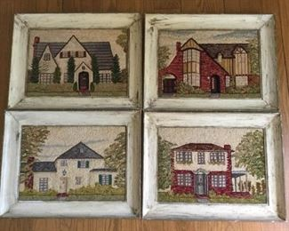 Vintage 1945-1946 Needlework Tapestries of Real Homes by Ella A Myers (4Pcs) https://ctbids.com/#!/description/share/209466