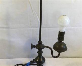 Antique Hubley Brass & Cast Iron Lamp             https://ctbids.com/#!/description/share/209659