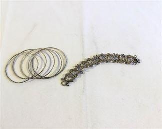 Sterling Bracelets Vintage 6 Piece https://ctbids.com/#!/description/share/209720
