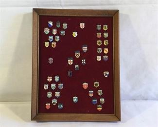 1960's Enamel Travel Shield Charms 48 Piece https://ctbids.com/#!/description/share/209661