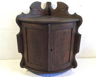 Antique Corner Wall Cabinet https://ctbids.com/#!/description/share/209663