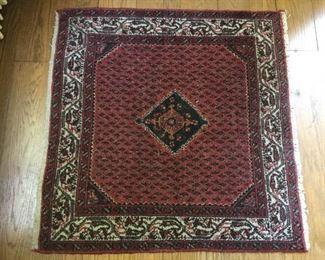 Antique Handmade Square Wool Rug Iran https://ctbids.com/#!/description/share/209721