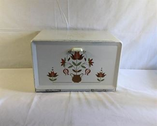 Ransburg Metal Bread Box Vintage https://ctbids.com/#!/description/share/209723