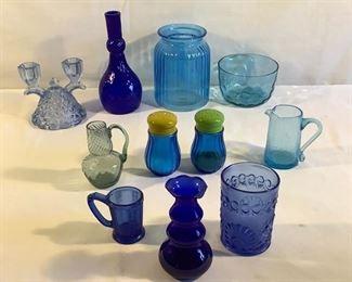 Blue Glass Collection (11 Pcs)    https://ctbids.com/#!/description/share/209793
