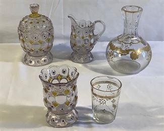 Clear Glass With Gold Trim (6 Pcs) https://ctbids.com/#!/description/share/209794