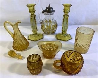 Yellow Glass Collection (9 Pcs) https://ctbids.com/#!/description/share/209795