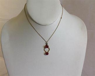 14k Necklace and Pendant Vintage https://ctbids.com/#!/description/share/209734