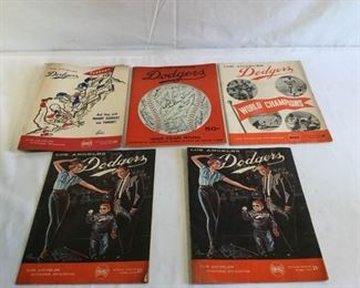 Los Angeles Dodgers Score Cards and 1958 Yearbook        https://ctbids.com/#!/description/share/209739