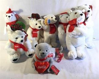 Coca-Cola Bears & Seal (8Pcs)         https://ctbids.com/#!/description/share/209622