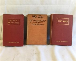 Vintage Books by Edith Wharton, The Age of Innocence, The Reef & The Fruit of the Tree (3Pcs) https://ctbids.com/#!/description/share/209683