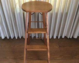 Antique Cracker Jac Wood Step Ladder https://ctbids.com/#!/description/share/209743
