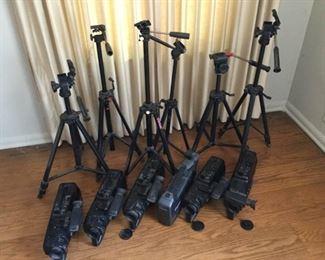 6 Panasonic Film Cameras and 6 Tripods  https://ctbids.com/#!/description/share/209745