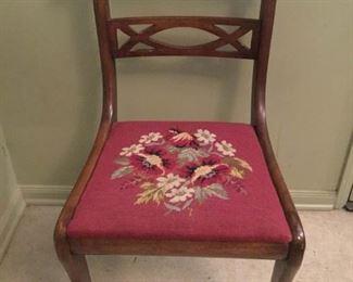 Antique Needle Point Chair https://ctbids.com/#!/description/share/209625
