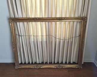 Large Gilded Wooden Picture Frame Vintage https://ctbids.com/#!/description/share/209748