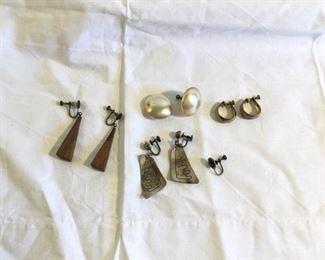 Vintage Sterling Earrings 4 Pieces https://ctbids.com/#!/description/share/209749