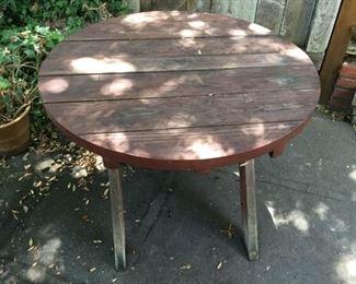Outdoor Wood Table https://ctbids.com/#!/description/share/209628
