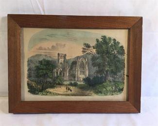 Antique 1872 Currier and Ives Lithograph Melrose Abbey           https://ctbids.com/#!/description/share/209694
