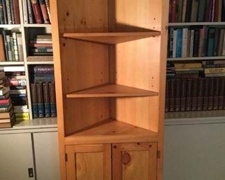Tall Corner Pine Cabinet  https://ctbids.com/#!/description/share/209636
