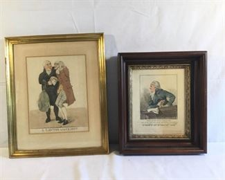 Antique Dighton Etching The Specious Orator and A Lawyer and his Client 2 Piece https://ctbids.com/#!/description/share/209698