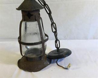 Dietz Hanging Chain Lantern Glass and Metal https://ctbids.com/#!/description/share/209670