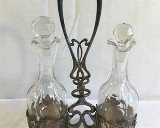 Antique Art Nouveau Oil & Vinegar Cruets (5Pcs) https://ctbids.com/#!/description/share/209675