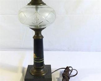 Vintage Hurricane Style Electrical Lamp https://ctbids.com/#!/description/share/209676