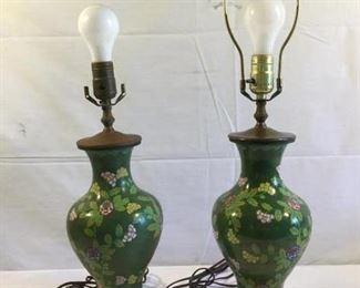 Antique/Vintage Cloisonné Matching Lamps 2 Piece https://ctbids.com/#!/description/share/209678