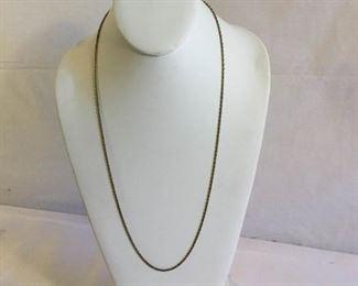 14k Gold Necklace Vintage https://ctbids.com/#!/description/share/209735