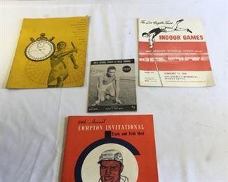 Track and field Programs Vintage Los Angeles 4 pieces https://ctbids.com/#!/description/share/209737