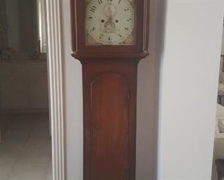 ANTIQUE WILLIAM CREAK 18TH CENTURY ENGLISH LONG CASE CLOCK (not in working condition but parts are there)