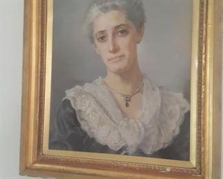 PASTEL PORTRAIT by IDA VERNER FECIT dated 1904