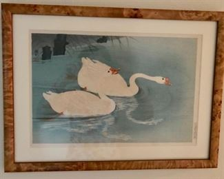 S. O'Hara - Chinese Swans - C. 1935 - Symbol of a Happy Marriage.