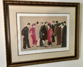 """""""Montparnesse"""" by David Schneuer b. 1905-1988 German/Isreali"""