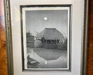 """Moon Over Itako"" by Kawase Hasui (1883-1957) -  C. 1936  - Signed"