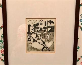 Woodcut by Angelo Aversa - 39/70 - C. 2002