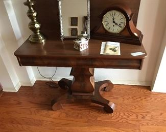 American Empire Flip top table ca. 1860.  Excellent condition.