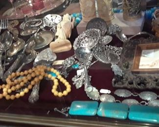 Silver and ethnic accessories