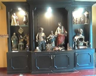 A good selection of Santos remain. The large cabinet is for sale.