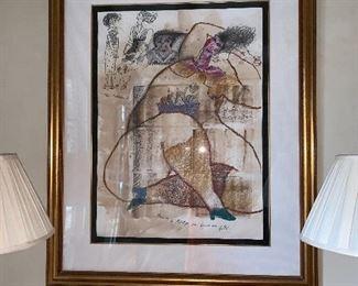 Theo Tobiasse original art - pair