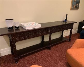 """Console table 22""""x34""""x9'long"""