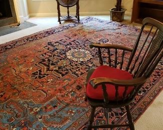 Heriz rugs are Persian rugs from the area of Heris, East Azerbaijan in northwest Iran, northeast of Tabriz. Such rugs are produced in the village of the same name in the slopes of Mount Sabalan. Heriz carpets are durable and hard-wearing and they can last for generations