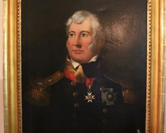 Antique oil portrait of English Officer