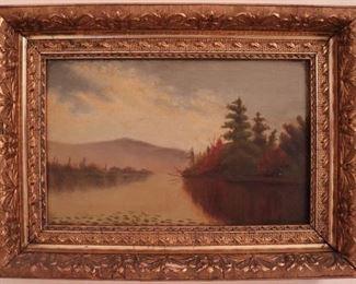Antique oil landscape