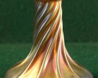 Tiffany Gold Favrile Candlestick