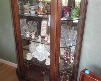Oak Antique Curio Cabinet