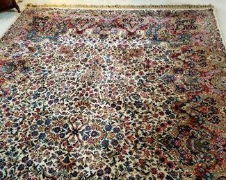 """8.8 x 12 foot Karastan wool rug #742 """"Floral Kirman"""""""