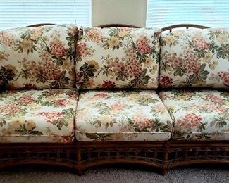 Rattan & bamboo sofa