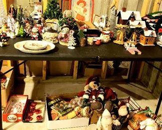 Table of Christmas stuff